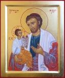 Икона святого праведного Иосифа (иконописная мастерская «Icon Shalom»); изображение кликабельно